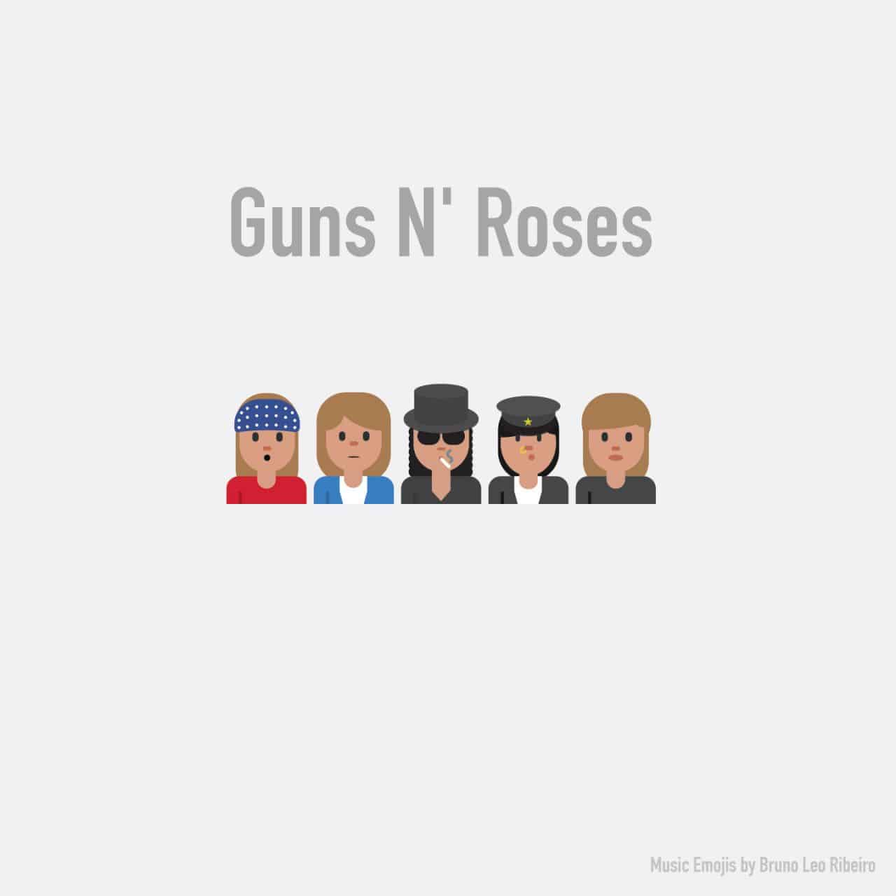 Emojis of popular bands and musicians | Dravens Tales from