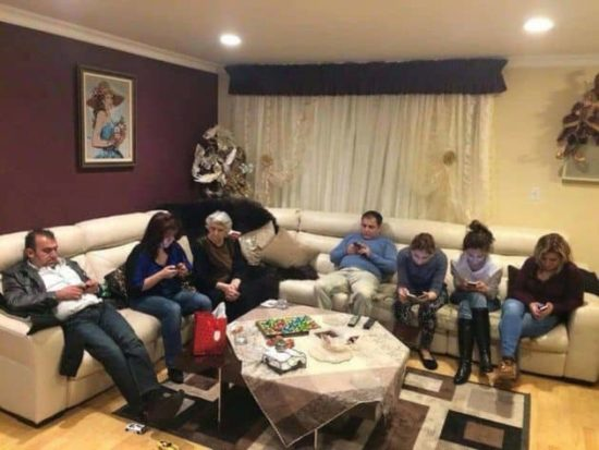 Pequeno visita de família