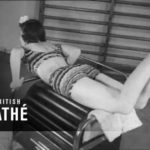 Film from the 40s shows women in the use of strange exercise equipment
