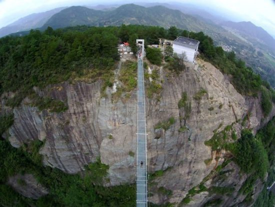 The longest bridge in the world of glass