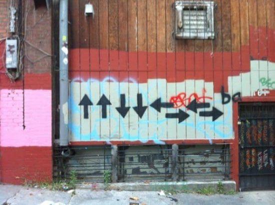 Konami Code Street-Art