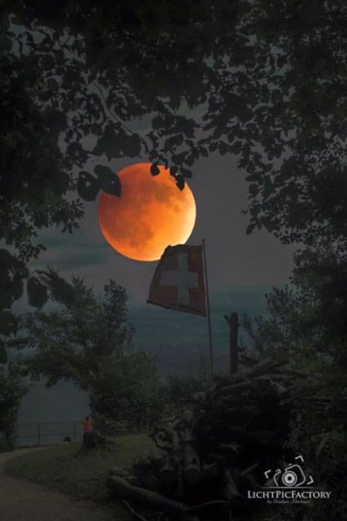 Lunar eclipse 2015 in Switzerland