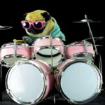 "Pug on drums playing Metallica's ""Enter Sandman"""