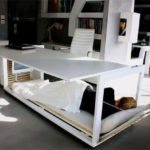 Day Desk: Desk with built-in bed