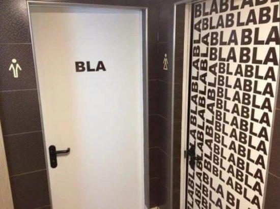 Neulich auf Toilette