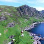 Norwegens Küste gefilmt mit einer Drohne