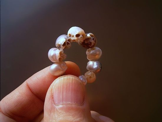Skull made of pearls
