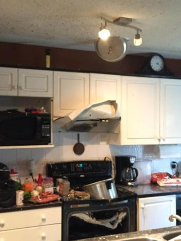 Small accident with a pressure cooker
