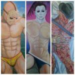 Sexy Pinup av Jason Voorhees, Freddy Krueger og Michael Myers