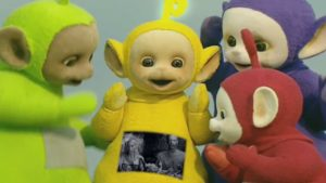 "The Teletubbies perform ""I Fink U Freeky"" by Die Antwoord"