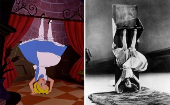 As Disney's animators an actress took to Alice in Wonderland drawing