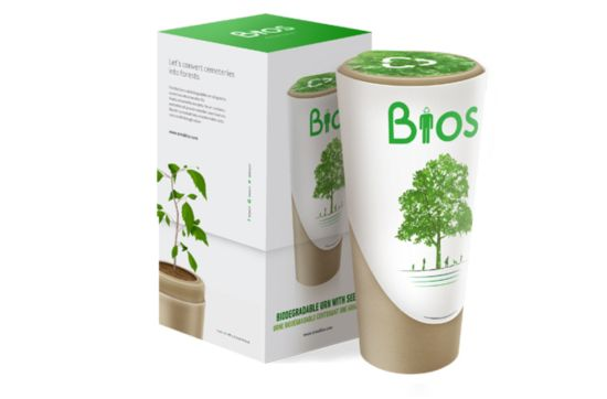 Bios Urn: An urn, transforms your ashes in a tree