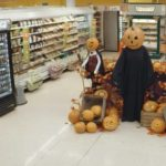 Halloween grap in de supermarkt