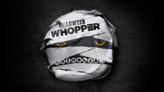 Hos Burger King der francs Fries & Halloween Whopper