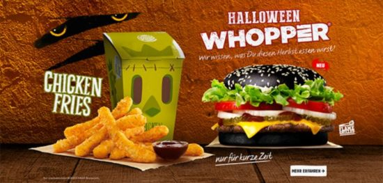 På Burger King där franc Fries & Halloween Whopper