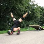 This incredible athlete rides Rollerblade on his hands