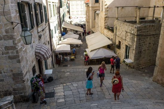 Dubrovnik: Barocktreppenhaus - Trappe til Great september for Baelor (Kings Landing)