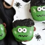 Creepy Frankenstein Macarons even baked