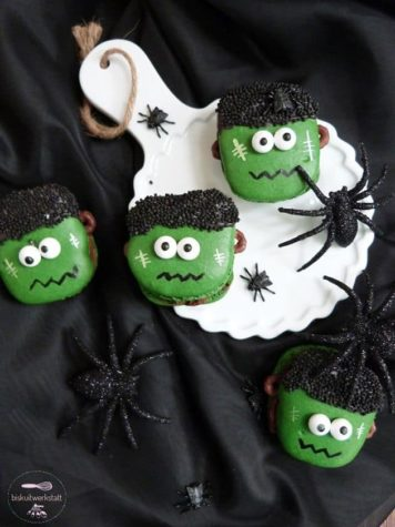 Frankenstein Macarons