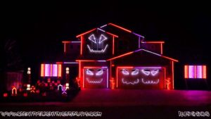 Ghostbusters Halloween Light Show