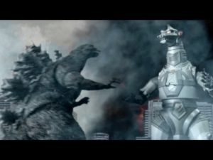 Godzilla vs. Mechagodzilla vs. Torre do Sol Robo