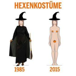 Hexenkostüm damals und heute