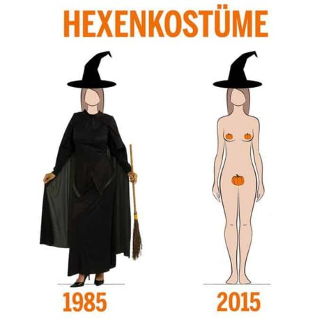 Witch Costume then and now