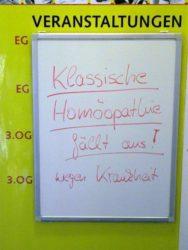 Homöopathie fällt aus