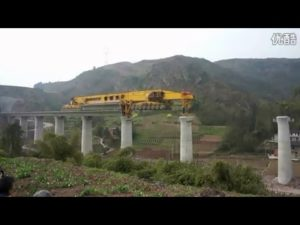 Huge bridge-laying machine