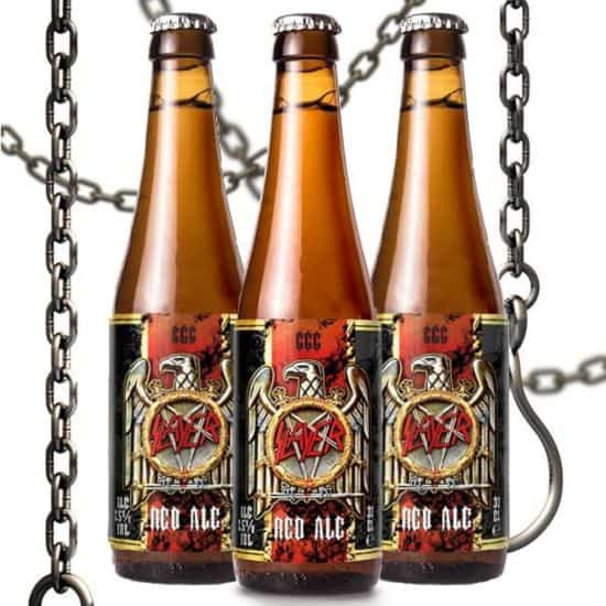 666 Red Ale: Slayer cerveza es de color rojo oscuro y la malta