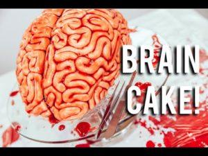 cérebro doce para Halloween buffet de sobremesas