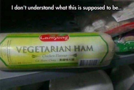 Vegetarischer Schinken mit Hühnchengeschmack