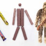 How to assemble Chewbacca from chocolate bars