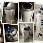 Made R2-D2 trash can itself