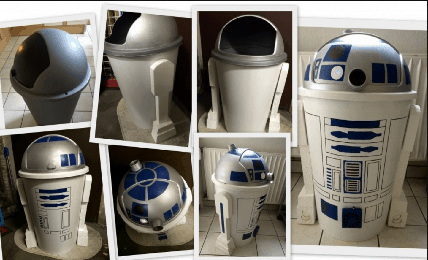 r2 d2 m lleimer selbst gemacht dravens tales from the crypt. Black Bedroom Furniture Sets. Home Design Ideas