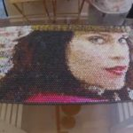 Bubble Wrap Art: Portrait injected into a bubble wrap