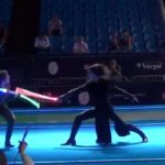 Duel with lightsabers at the World Fencing Championships 2015