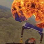 Paraşütünü yanan durumunda rezerv paraşüt önemini göstermektedir