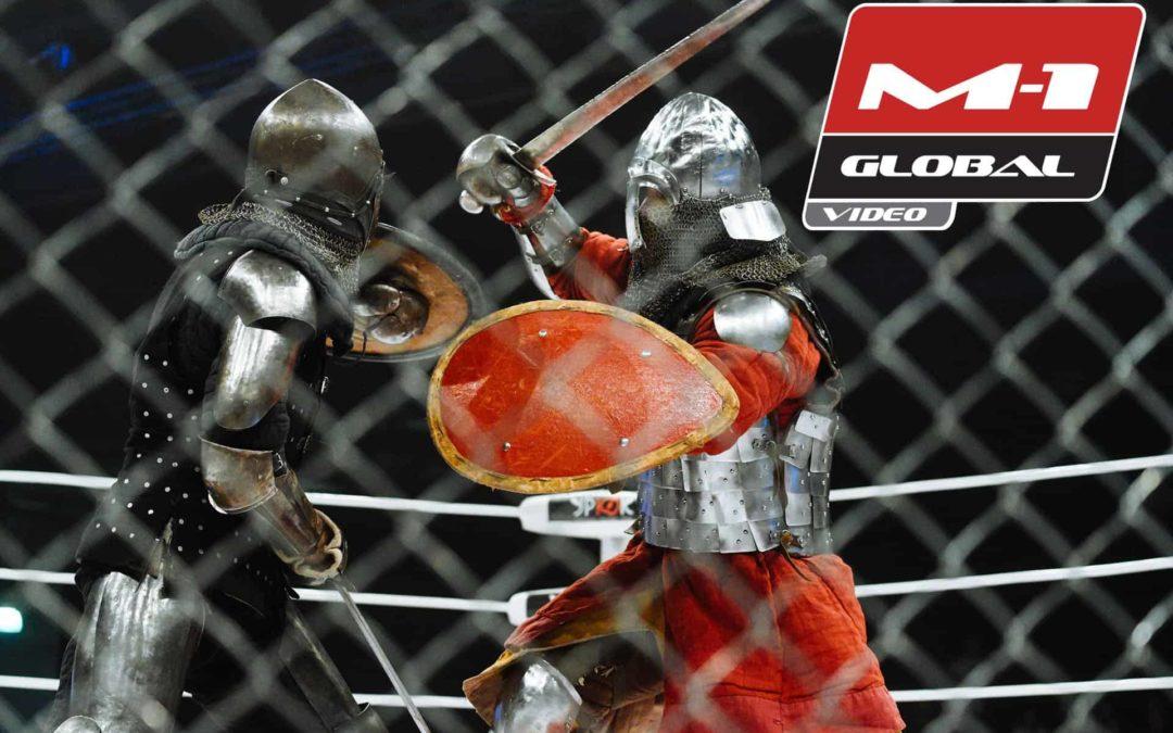 M-1 Medieval  Dos caballeros medievales que luchan en el ring 7e865de0308