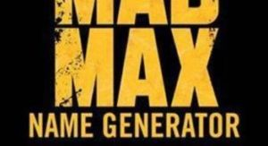 Mad Max Name Generator