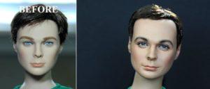 Gesichter von prominenten Spielzeug-Puppen verbessert von Noel Cruz