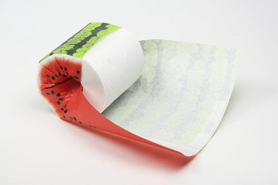 Toilet paper in fruit appearance