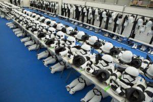 Blick in die Umkleidekabine der Stormtrooper