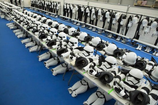 Look in the dressing room of the Stormtrooper