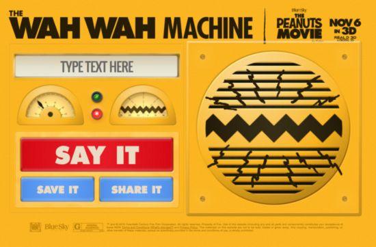 Wah Wah machine: Parlant en tant que les adultes dans les arachides