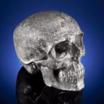 skull, carved from a meteorite