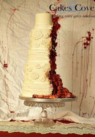 Zombie wedding cake takes your guests appetite