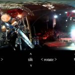 360 ° View af Five Finger Death Punch etape i Wembley