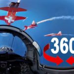 360° flight of the Patrouille Suisse