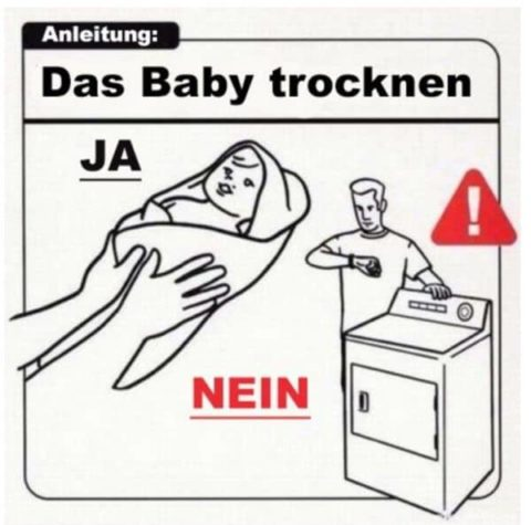Instructions for a baby
